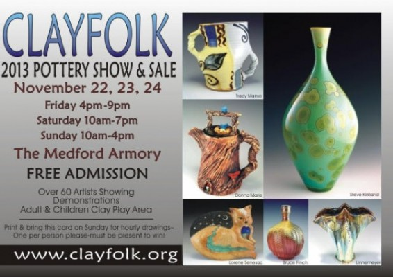 Clayfolk Show and Sale 2013 in Medford, Oregon